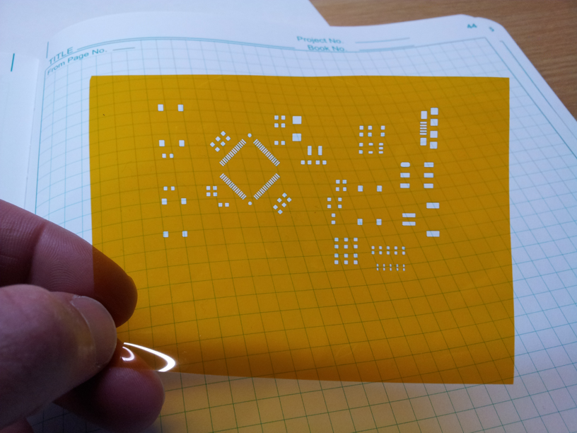 How to Laser Cut a PCB Solder Paste Stencil on Kapton - OzBotzOzBotz